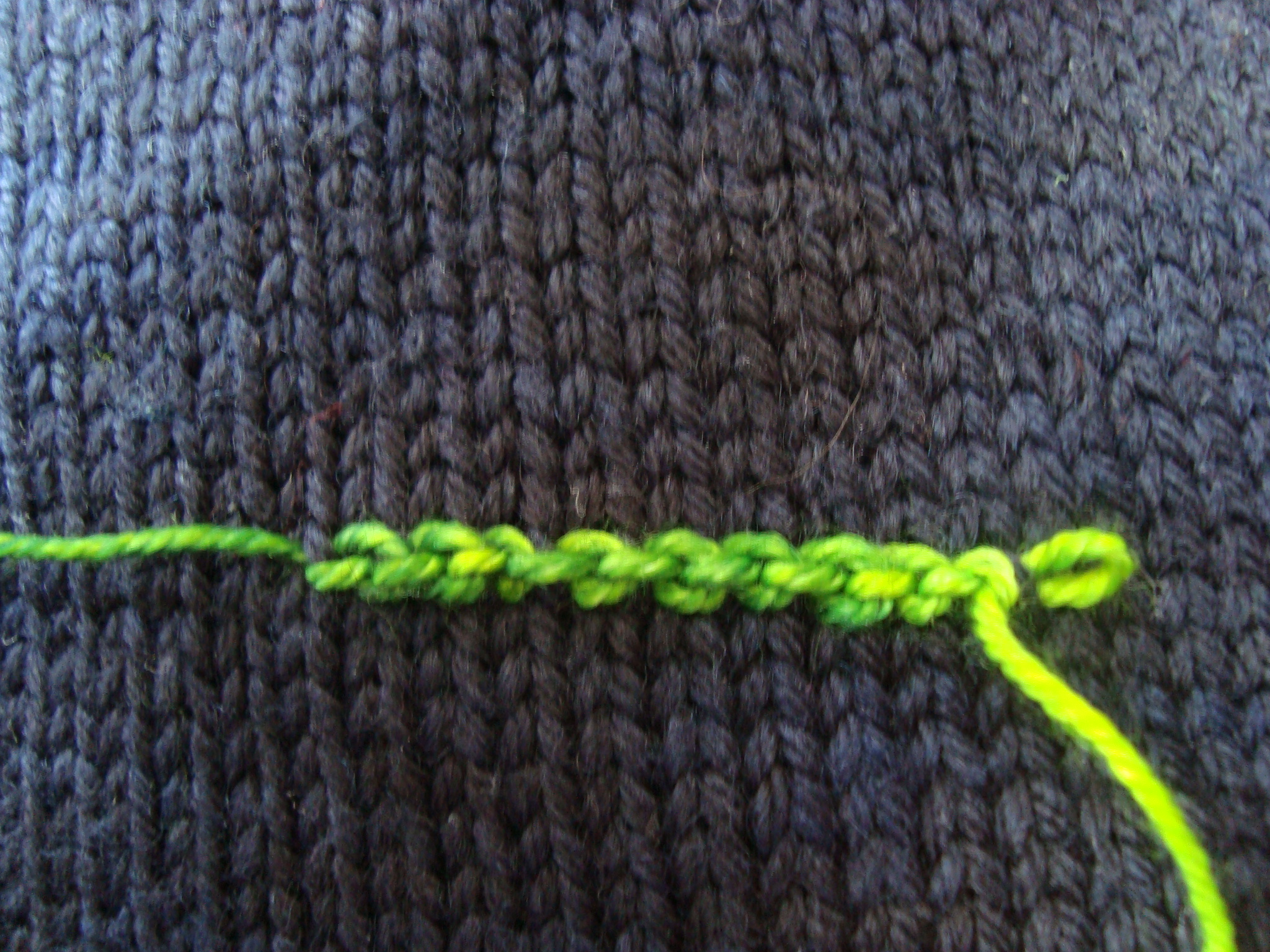 """The Only Problem Was That I Had To Carry The Yarn In Front To Work The  Crochet, So I Ended Up With The Wrong €�side"""" Of The Chain Stitch Pointing  Forward"""